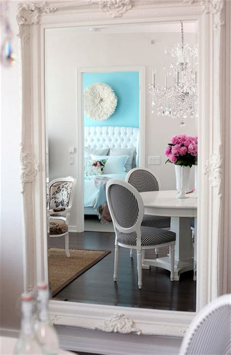 baroque floor mirror contemporary dining room the