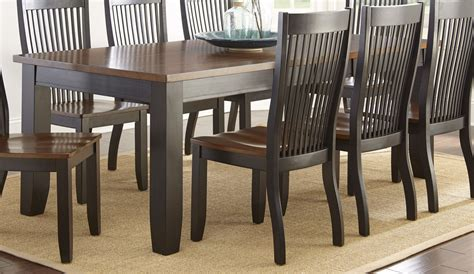 Black And Brown Dining Table Lawton Transitional Mission Style Wood Dining Table In Black And Brown