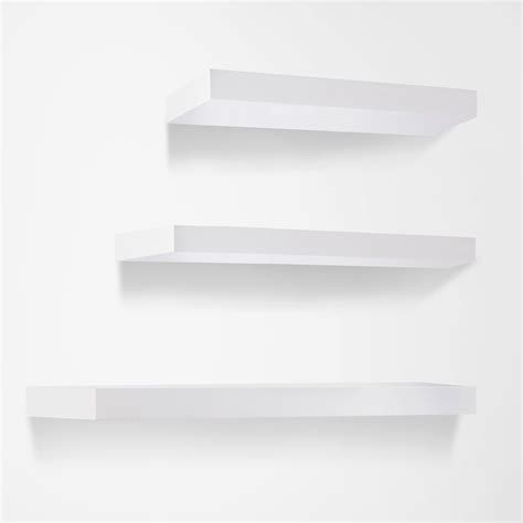 Buy 3 Pcs Wall Floating Shelf Set Bookshelf Display White Floating Wall Shelves White