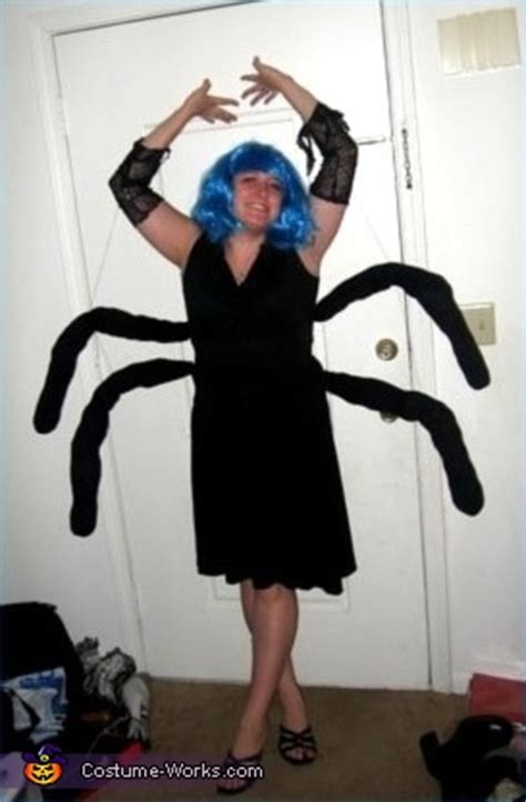 homemade spider costume  woman