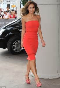 myleene klass wears red dress at cannes film festival daily mail online