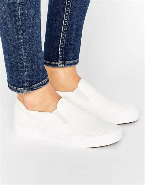 new look slip on new look new look basic canvas slip on trainers