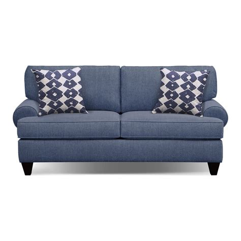 sofa and accent chair set bailey blue 79 quot memory foam sleeper sofa and accent chair
