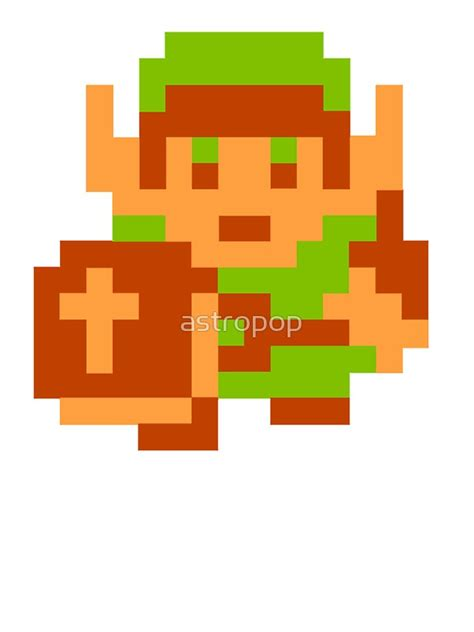 Loz Gift Small 9317 quot 8 bit legend of link nintendo quot stickers by astropop redbubble