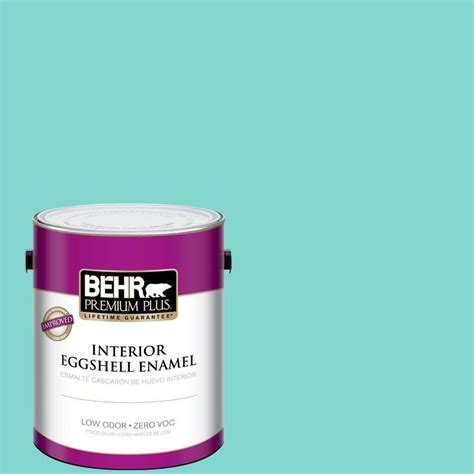 behr premium plus 1 gal home decorators collection island oasis eggshell enamel interior paint