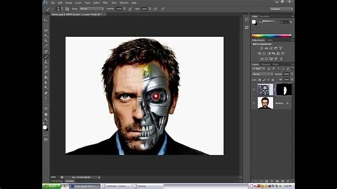 adobe photoshop robot tutorial photoshop cs6 tutorial face cyborg youtube