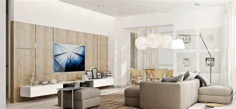 Neutral Living Room Apartment Simple Yet Modern Interiors From 2 B
