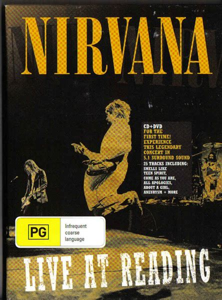 format live cd nirvana live at reading cd album at discogs