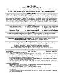 Exles Of Cosmetology Resumes by Beautician Cosmetologist Resume Exle
