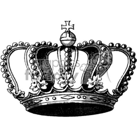 royalty free vintage king crown vector vintage 1900 vector
