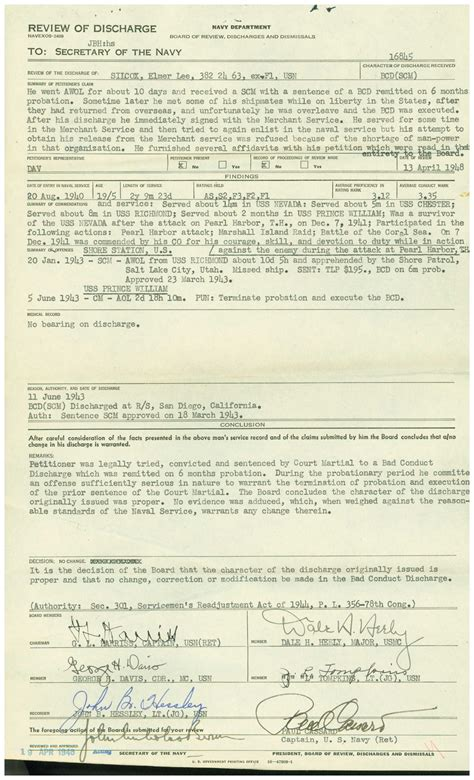 Army Discharge Records Wwii Era Navy Service Records An Overview My Service Records