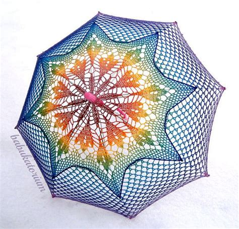 naturally playful leaf pattern umbrella crochet umbrella rainbow ombre leaves doily motif with