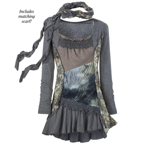 ragamuffin tunic dress new age from the pyramid collection