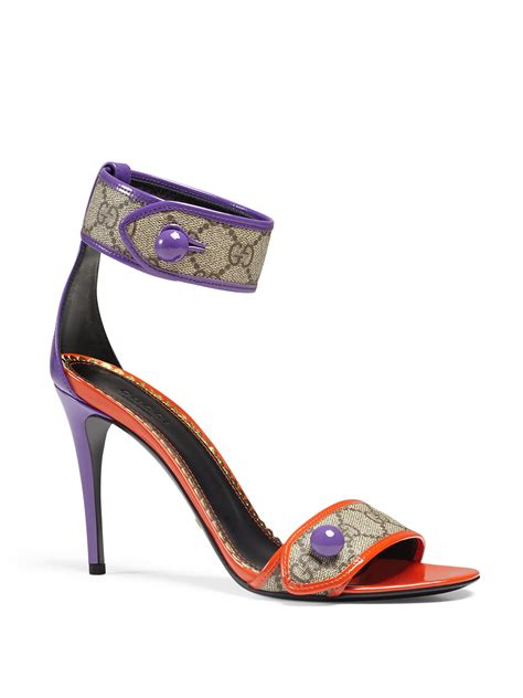 Gucci Shoes 868 1a gucci harleth gg patent sandals lyst
