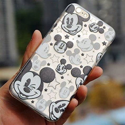 Casing Mickey Mouse Iphone 6 6s 7 7s 7 7s for iphone 6 6s disney mickey mouse faces soft tpu black clear transparent