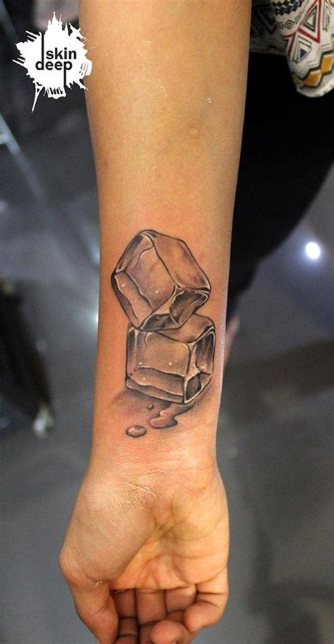 ice cube face tattoo melting cube www pixshark images