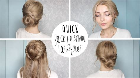 cute hairstyles for back to high school easy cute back to school hairstyles youtube