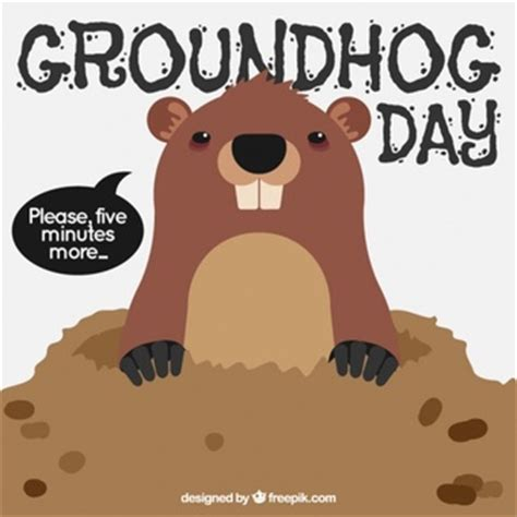 groundhog day years groundhog day badge vector premium