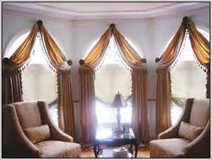 Corner Window Curtain Ideas Curved Window Curtain Rods For Arch Curtains Home