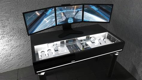 pc gaming desk case pandoradvanced prepares its jetblack desk pc case