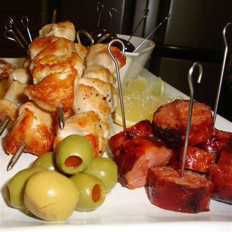 appetizers on a skewer recipe images