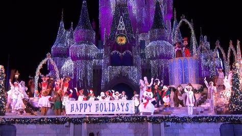 celebrate  season show mickeys  merry christmas party  magic kingdom jolly holidays