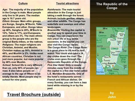 tri fold travel brochure template 22 travel brochure templates free