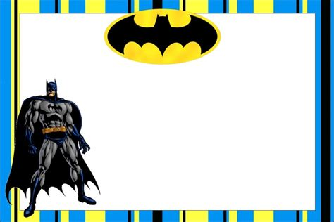 Batman Birthday Card Template by Free Printable Batman Birthday Invitations Bagvania Free