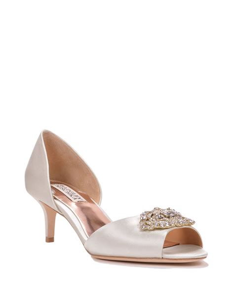 badgley mischka petrina d orsay decorated evening shoe in