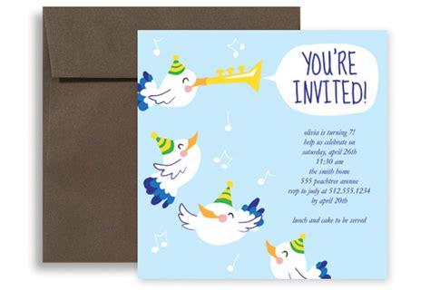 Boy Birthday Card Template by Baby Blue Boy Birthday Invitation Ideas 5x5 In Square