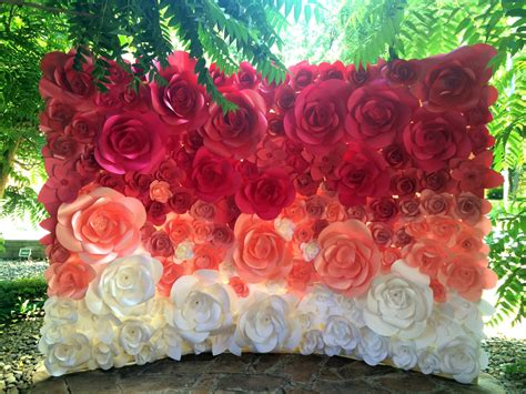 Wedding Backdrop With Paper Flowers by Ombre Paper Flower Wedding Backdrop Wedding от Miogallery