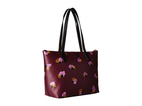 Floral Print Tote lyst coach whls floral printed tote in purple
