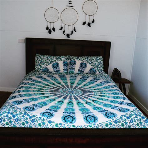 Handmade Duvet Covers - indian reversible duvet cover cotton handmade mandala