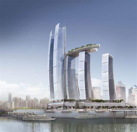 awesome architecture chongqing chaotiamen skyscrapers by safdie architects