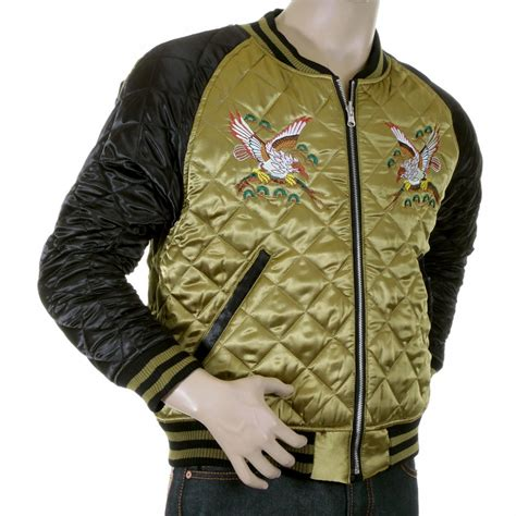 eagle design jacket buy pure silk quilted reversible jacket by yoropiko