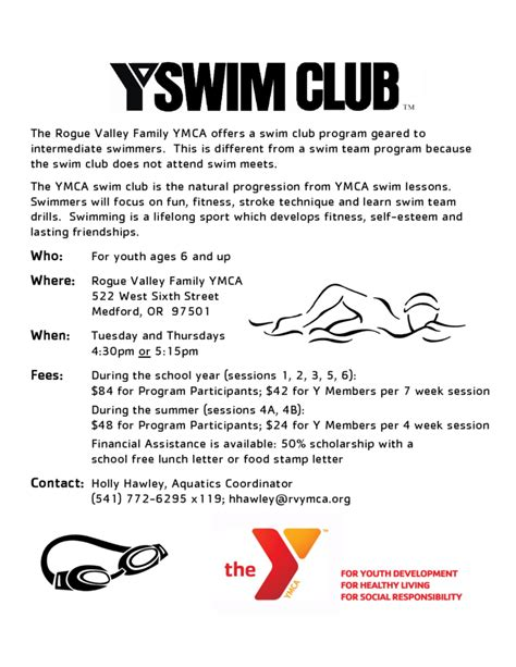 Youth Resume Sample by Sample Swim Club Flyer Free Download