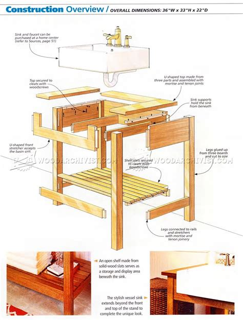 craftsman furniture plans 1025 craftsman style sink stand plan woodarchivist
