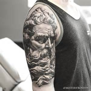 Chronic ink tattoo toronto tattoo poseidon statue tattoo done at our