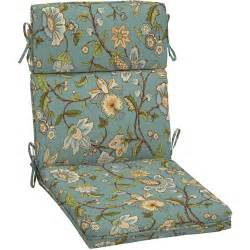 Better Homes And Gardens Patio Furniture Cushions Better Homes And Gardens Dining Chair Outdoor Cushion Blue Jacobean Walmart