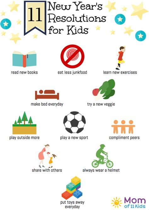11 new year s resolutions for kids