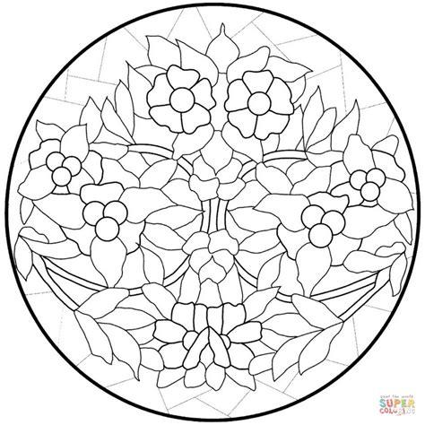 figure di fiori disegno di mandala con fiori da colorare disegni da