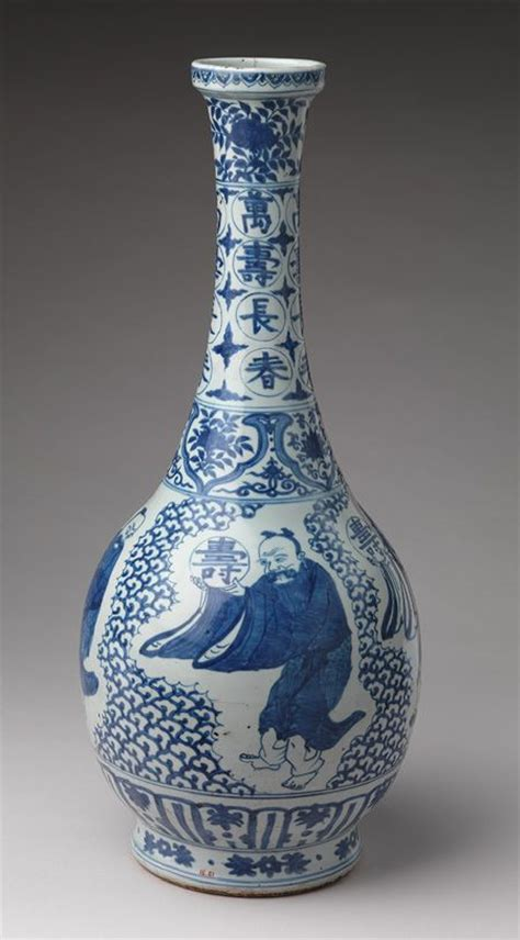 Ming Vase History by Vase With Immortals Bearing The Character For Longevity