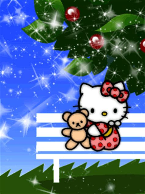 wallpaper biru lucu gambar wallpaper hello kitty biru animasi bergerak lucu