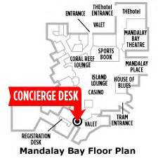 Mandalay Bay Floor Plan Vegas Com Concierge Desk At Mandalay Bay