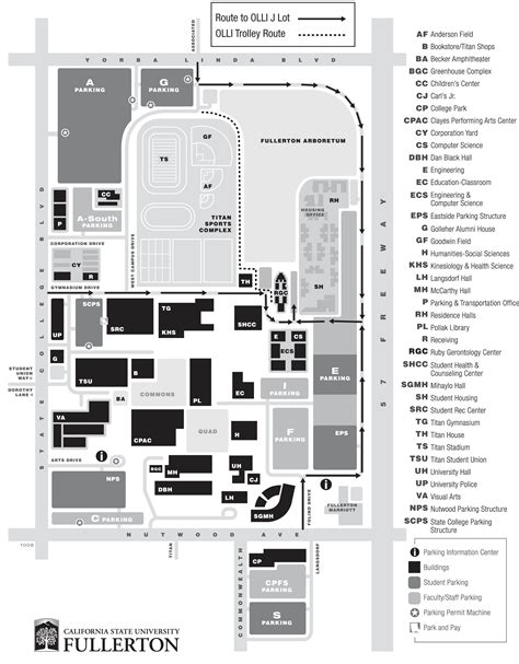cal state fullerton map osher lifelong learning institute maps
