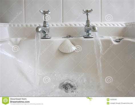 Is Bathroom Tap Water Water by Bathroom Taps And Running Water Stock Photo Image 15505330