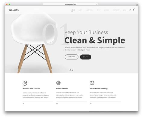 Simple Template Website by 46 Best Minimalist Themes For Creatives 2018
