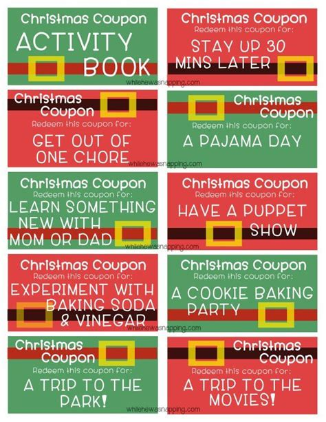 printable xmas coupons printable stocking stuffer idea kid s christmas coupon