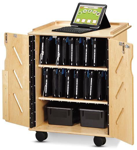 amazon com belkin kitchen cabinet tablet mount computers wood finish tablet cart portable secure 32 device stoarge