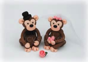 monkey cake topper monkey chimp and groom wedding cake topper a photo on flickriver